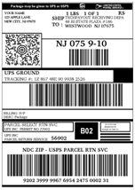Shipping Label Click to Enlarge